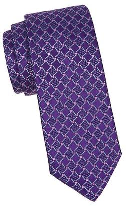 Canali Cube Silk Tie