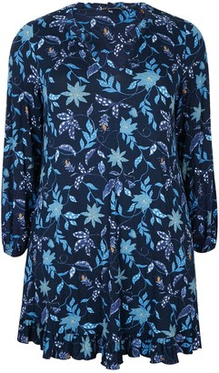 Evans Frill Swing Tunic - Blue