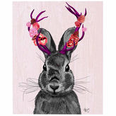 Asstd National Brand Jackalope with Pink Antlers Canvas Wall Art