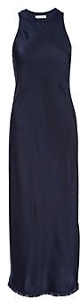 Frame Silk Frayed Hem Maxi Dress