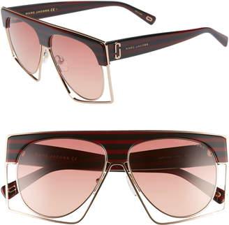 Marc Jacobs 58mm Flat Top Sunglasses