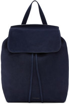 Mansur Gavriel Navy Suede Backpack