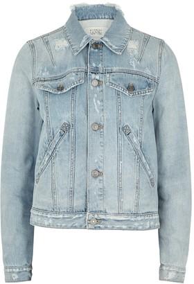 Givenchy Light blue distressed denim jacket