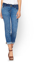 New York & Co. Soho Jeans - Cropped Boyfriend - Indigo Blue Wash