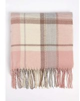 Dorothy Perkins Womens Pretty Pink Check Scarf- Pink
