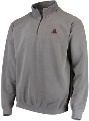 Men's Gray Alabama Crimson Tide Comfort Colors Quarter-Zip Pullover Jacket