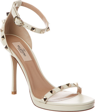 Valentino Rockstud 100 Leather Ankle Strap Sandal