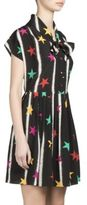 Saint Laurent Stars & Stripes Printed Dress