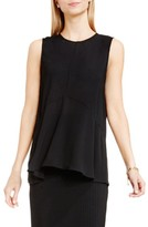Vince Camuto Petite Women's Sleeveless Ruffle Front Top