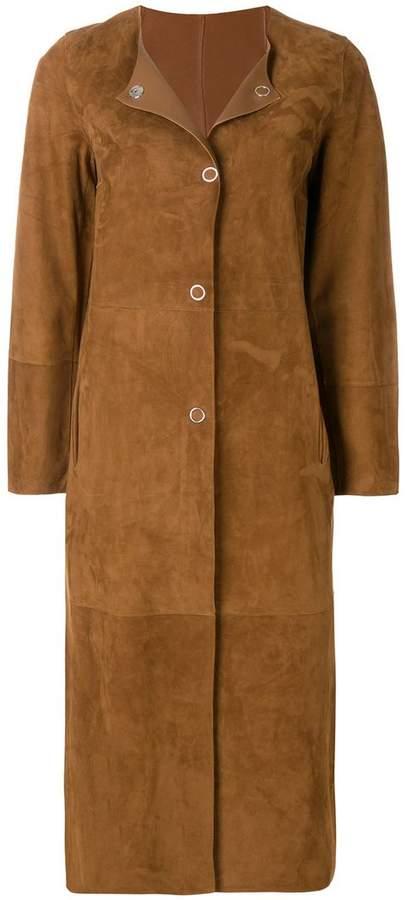 Yves Salomon reversible long coat