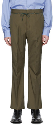 Acne Studios Khaki Drawcord Bootcut Trousers