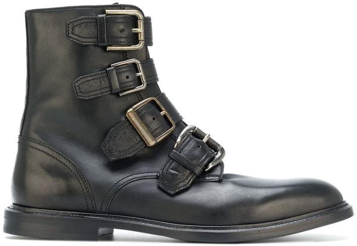 Dolce & Gabbana buckle strap ankle boots