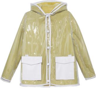 Pologeorgis The Lemonade Hooded Shearling Rain Jacket