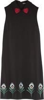 Markus Lupfer Nella embroidered stretch-crepe mini dress