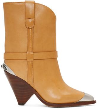 Isabel Marant Tan Lamsy Boots