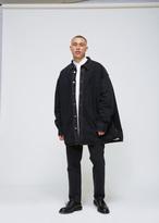 Raf Simons Black Padded Denim Shirt Coat