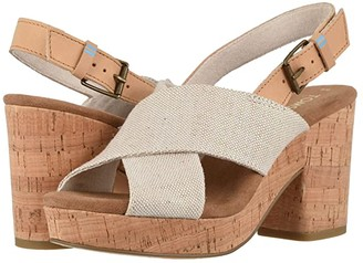 Toms Ibiza (Multi Pearlized Metallic Woven/Honey Leather) Women's Sandals