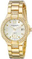 Akribos XXIV Women's AK775YG Gold-Tone Swiss Quartz Watch