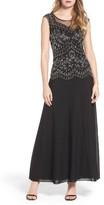 Pisarro Nights Women's Embellished Mesh Gown