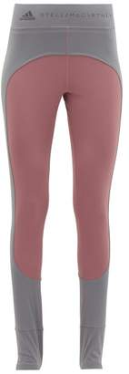 adidas by Stella McCartney Comfort Two-tone Stirrup-ankle Leggings - Womens - Pink