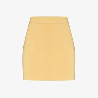 ALEKSANDRE AKHALKATSISHVILI High Waist Cotton Mini Skirt