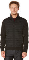 Perry Ellis Big and Tall Mixed Media Quilted Jacket