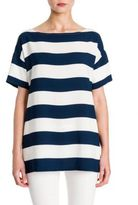 Dolce & Gabbana Striped Bateau Neck Top