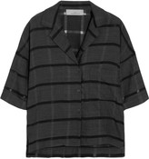 Studio Nicholson Lewis striped wool, cotton and silk-blend shirt