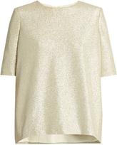 Lanvin Round-neck short-sleeved silk-blend top
