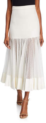 Alexis Bartley Mesh Linen Midi Skirt