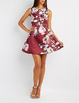 Charlotte Russe Floral Pleated Skater Dress