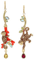 Betsey Johnson Tropical Punch Monkey Earrings