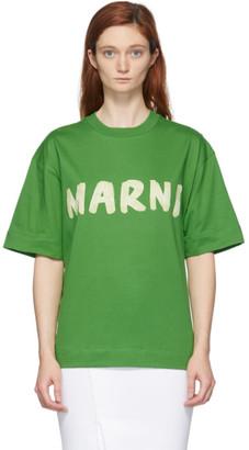 Marni Green Logo T-Shirt