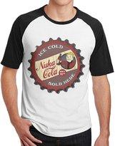 ODSJKK Nuka Cola Fallout 3 4 Men Short Sleeve Raglan Shirts