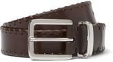 Brunello Cucinelli - 3cm Brown Whipstitched Leather Belt