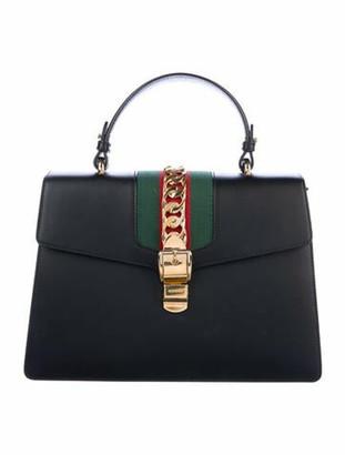 Gucci Medium Sylvie Top Handle Bag Black