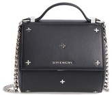 Givenchy Pandora Metal Cross Leather Satchel - Black