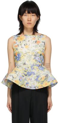 Nina Ricci Multicolor Floral Peplum Volume Blouse