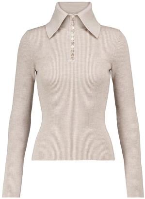 Deveaux Halper ribbed-knit merino wool sweater