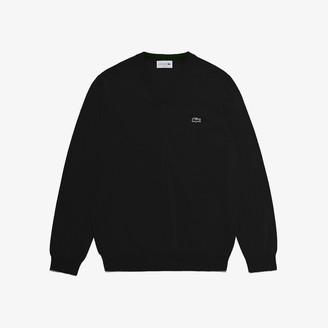 Lacoste Men's V-neck Organic Cotton Sweater