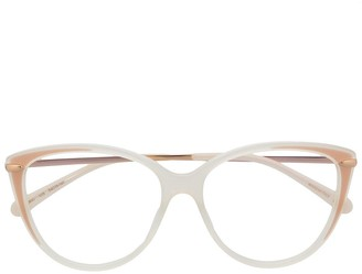 Pomellato Transparent Cat-Eye Glasses