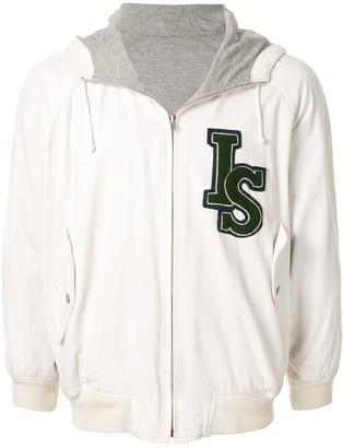 Issey Miyake Pre-Owned 1980's Sports Line logo reversible hoodie