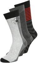 Converse 3 Pack Socks Light Heather Grey/medium Heather Grey/black