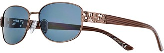 Apt. 9 Women's Small Metal Oval Floral Cutout Sunglasses