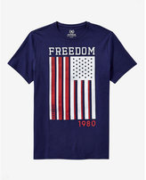 Express freedom flag graphic t-shirt