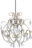Heart of House Laura Leaves Glass Droplets Lampshade - Cream