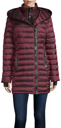 Canada Weather Gear Hooded Lightweight Puffer Jacket