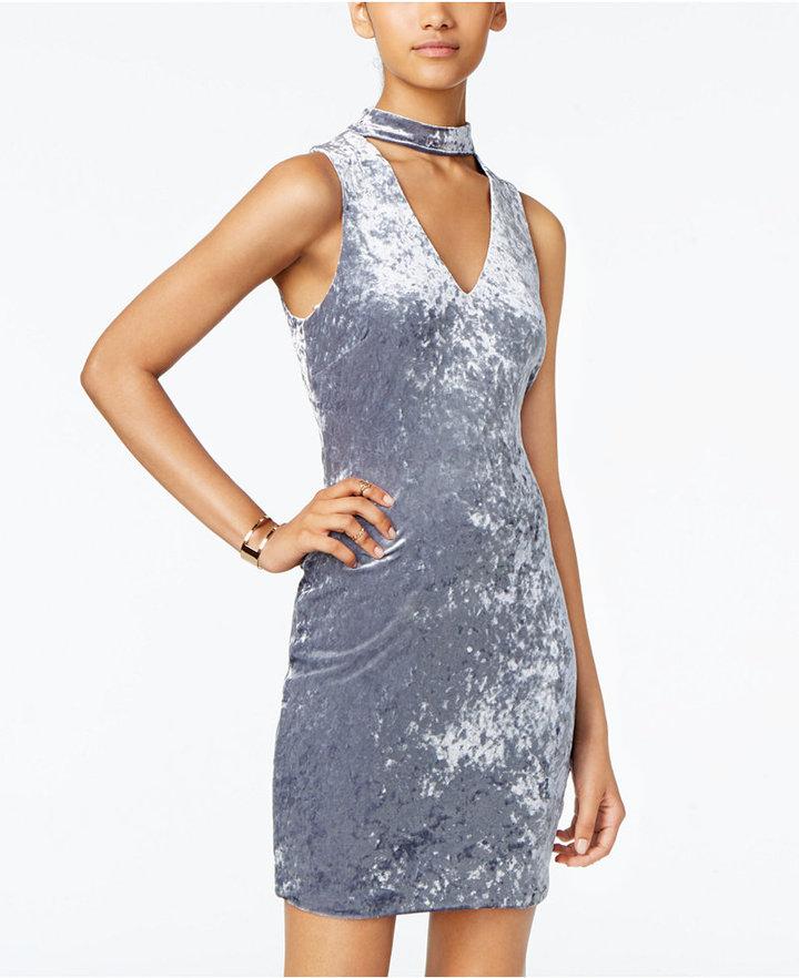 As U Wish Juniors' Velvet Choker Dress