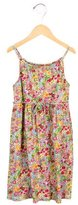 Oscar de la Renta Girls' Floral Print Sleeveless Dress