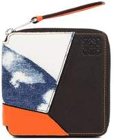 Loewe Puzzle Small Wallet Bleached Blue Denim/White/Black